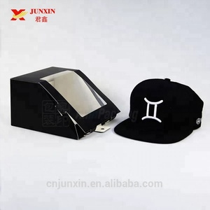 2018 hotsale newly baseball cap packaging box snapback cap box with clear window
