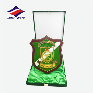 Green style wooden award plaque with velvet box