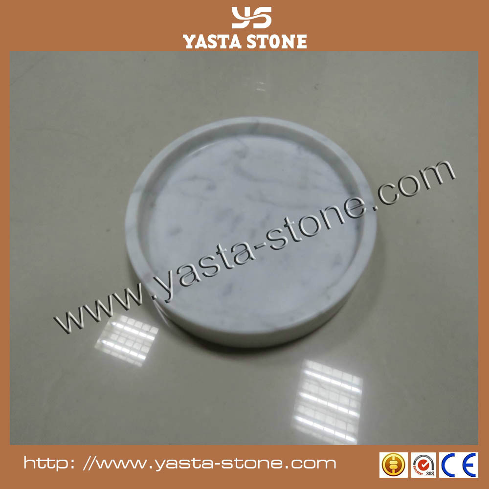 Good quality 2cm up thick marble plate for food tray