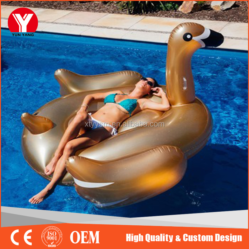 Best selling inflatable swan animal water pool toys for sale , giant inflatable swan float pool
