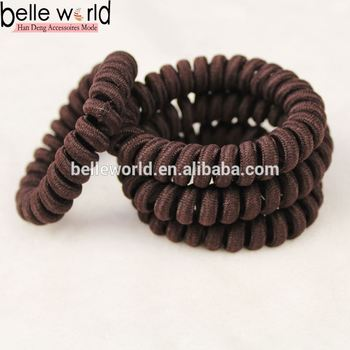 Telephone Assorted Colors Coil Wire Elastic Band Ponytail Holder ... a811ed39d2b