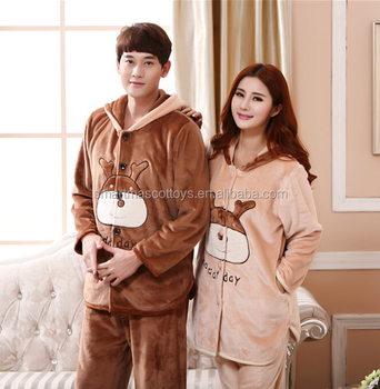 winter women mens pajamas sleepwear custom animal moose pajamas sleepwear