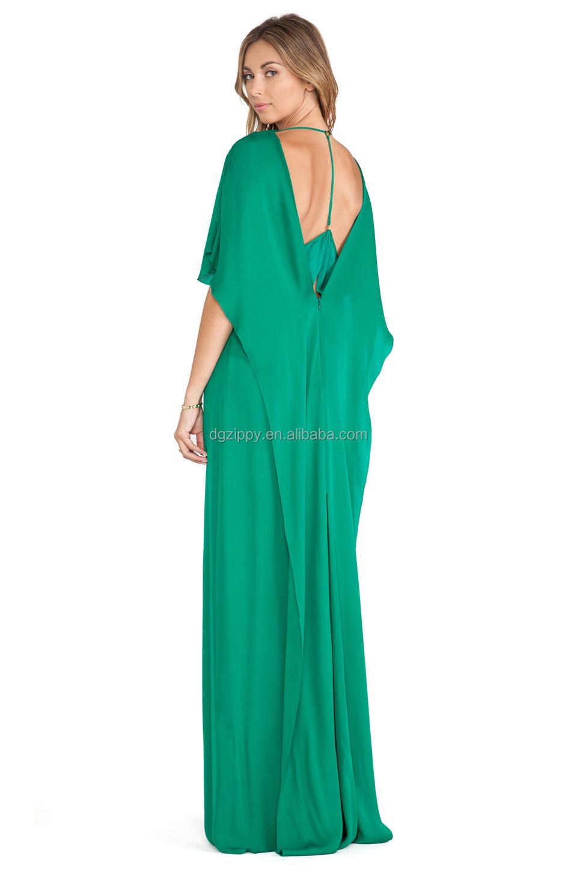 Women Sheer Inset Gown In Emerald Latest Long Gown Women Long ...