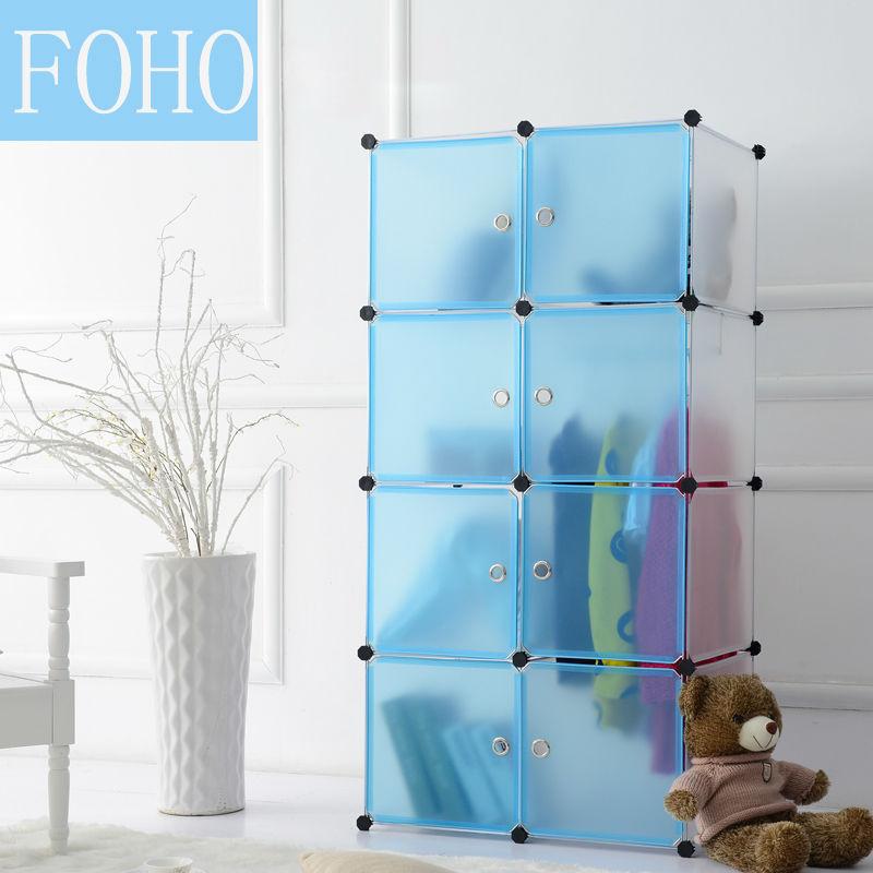 8 Cubos Púrpura Muebles De Dormitorio Pequeño Armario Ropero Fh ...