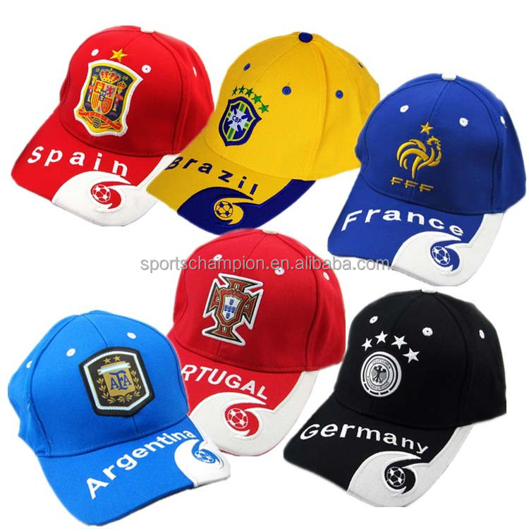 Embroidery World cup Fans Caps Wholesale Football World Cup Caps and Hats aad1f21ddb8