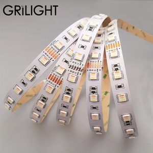 2019 hot sell GRILIGHT 12mm PCB 24W 5 color in 1 led multi color SMD5050 60led per meter RGBWW led strip