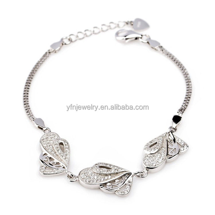 Hand Made Silver Jewelry Bracelet Fashion Bracelet With Butterfly