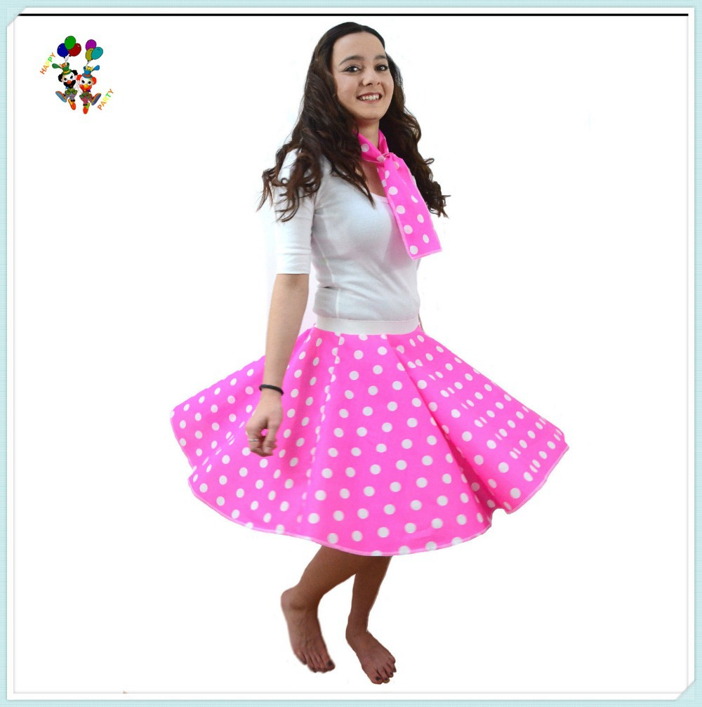 Polka Dot Rock And Roll Hen Party Dress Trajes Atractivos Hpc-3018 ...