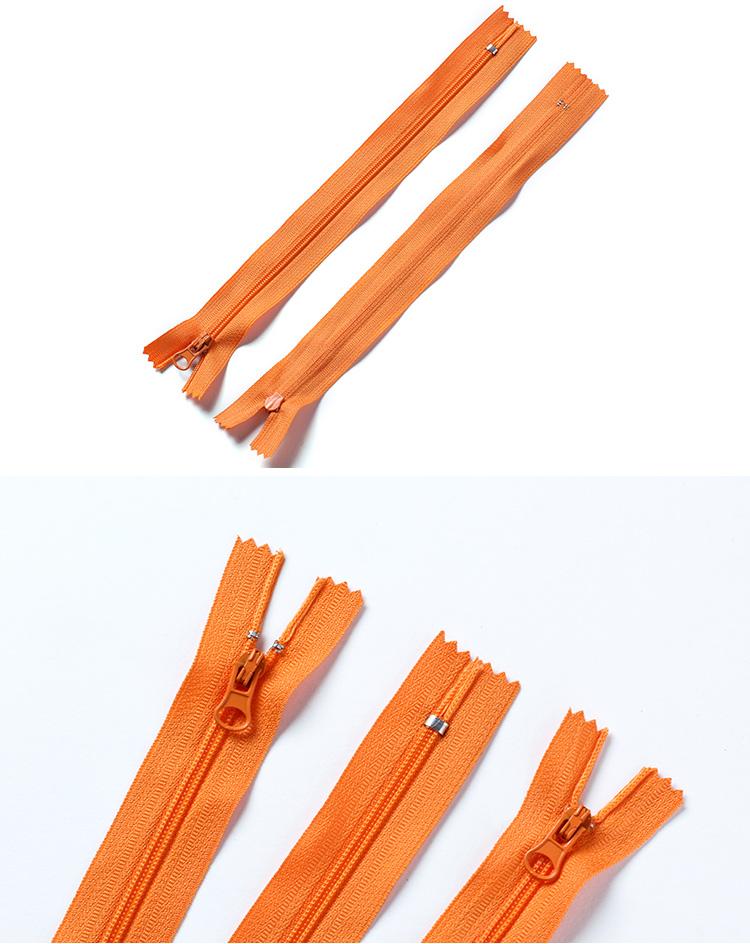 New design custom length durable auto lock garment nylon zipper