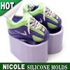 H0034 Nicole baby shoes silicone mould for soap