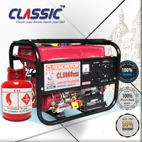 CLASSIC(CHINA) Electric Start With Battery LPG Gas Generator, Easy Move LPG Generator, Fuel Save LPG Kit for Generator