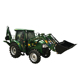 Mini farm tractor with front end loader and backhoe with best price