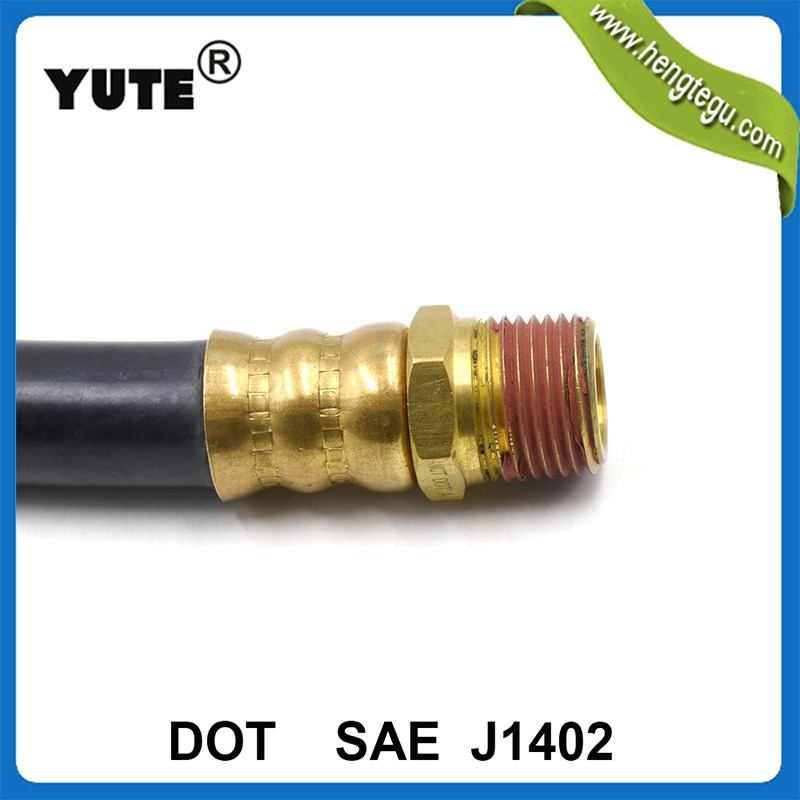 yute band epdm rubber air brake hose assembly with dot approved