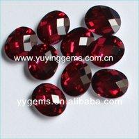 Bright Garnet Reflective Glass Beads