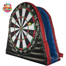 Funny sport game outdoor soccer dart inflatable football dart board for sale