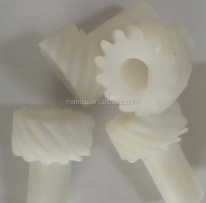 China manufacturer CNC machine of Nylon,POM,PEEK material bevel plastic gear for motor