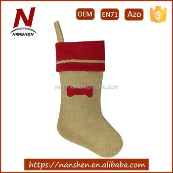 20 wholesale burlap animal dog christmas stockings