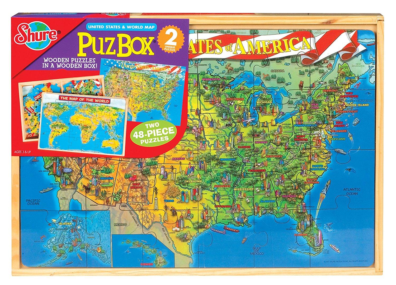 Cheap world map karachi find world map karachi deals on line at get quotations us map world map 2 puzzles set shure gumiabroncs Choice Image