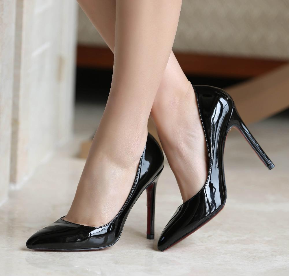 Black Flat Work Shoes Ladies