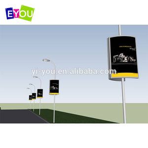 Custom size solar powered outdoor scrolling advertising light box