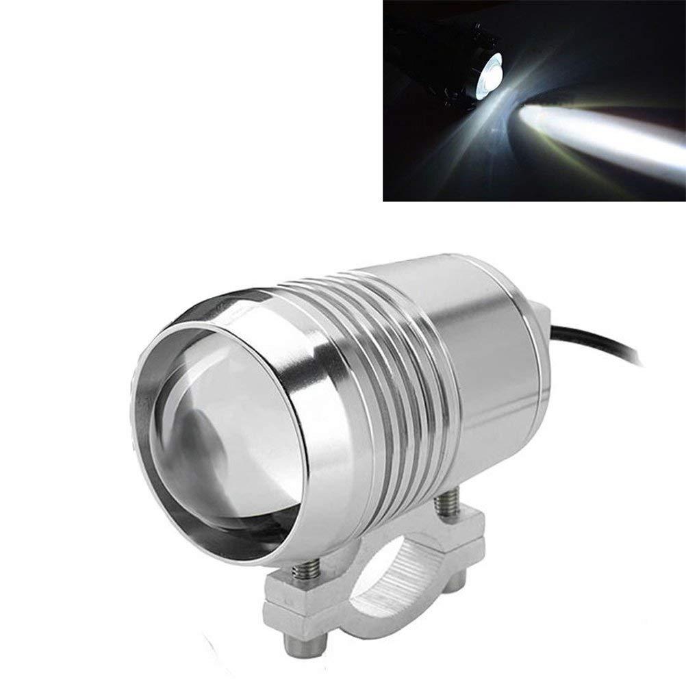 PACASK 2PCS Motorcycle Fog Light Bar Spotlight Black Metal Shell Waterproof Bright LED Universal Motorcycle Headlight Electric Bike Work Driving Headlamp Spot Lamp 1pcs ON//OFF Switch