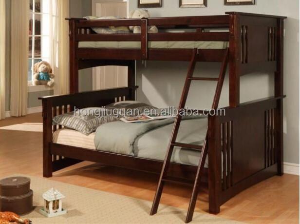 Madera maciza de pino doble doble cama litera doble cama - Litera para adultos ...