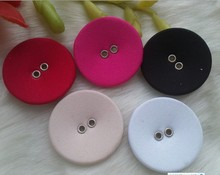 2015 fashion garment button two holes fabric covered button