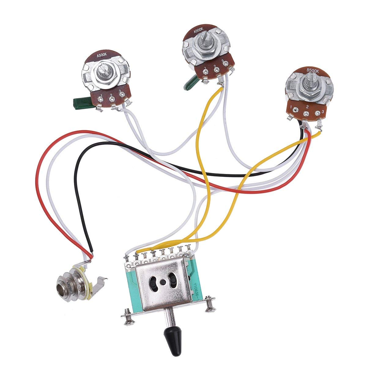 Cheap Strat Wiring Find Deals On Line At Alibabacom Stratocaster Diagram 500k Pots Get Quotations Electric Guitar Harness Prewired Kit For Parts 5 Way Toggle Switch 2t1v
