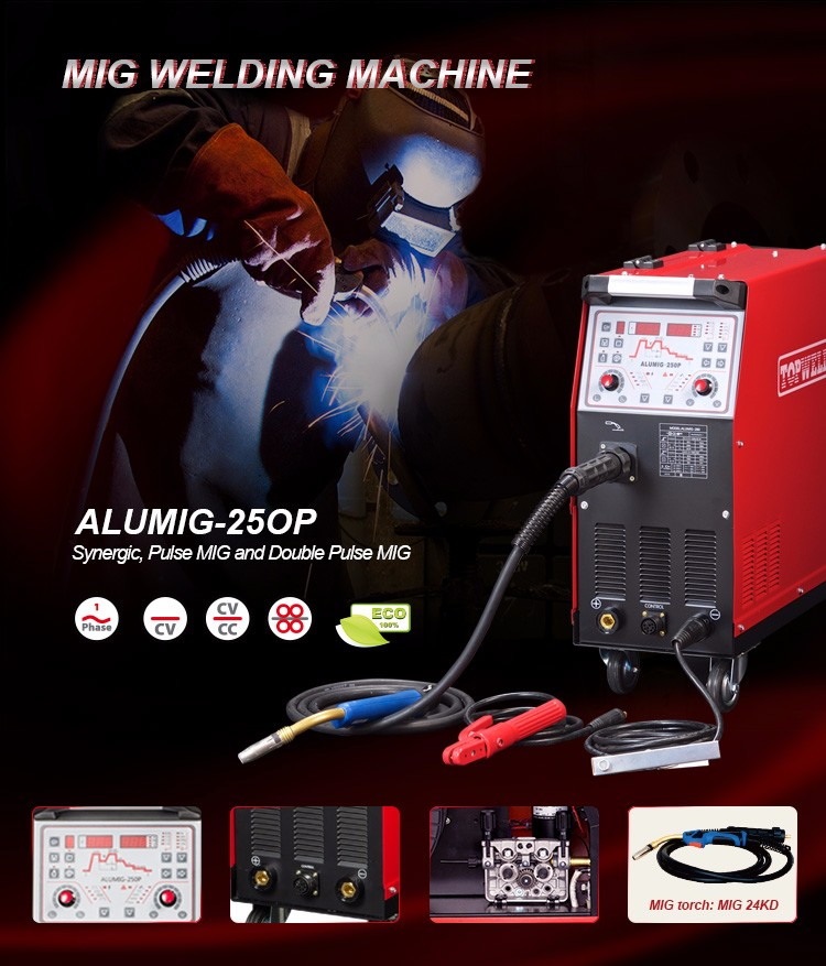 Pulse And Double Pulse Mig Welder Alumig-250p