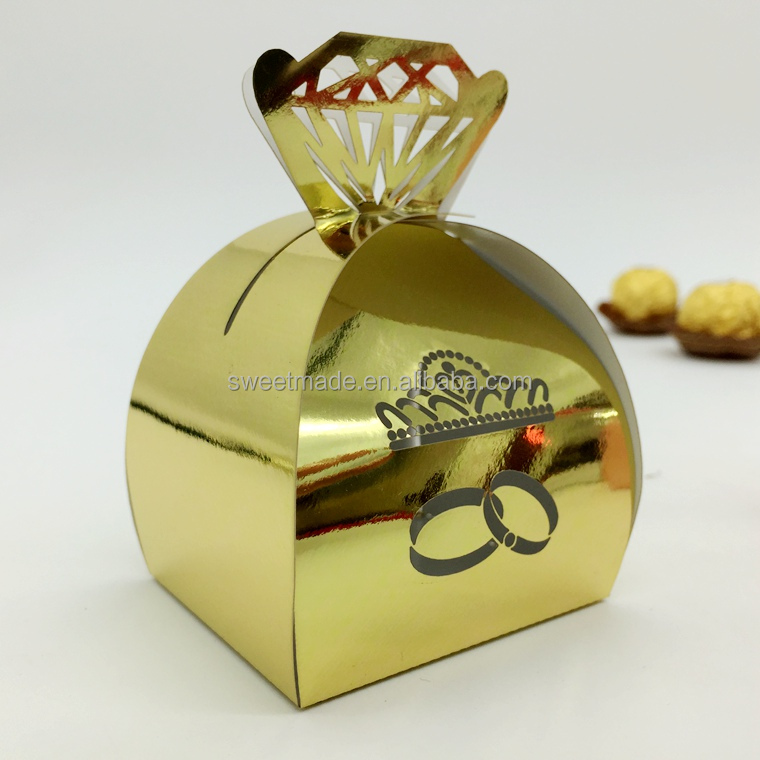 customized foldable laser cut handmade indian wedding gift favors candy box in packaging boxes