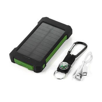 Power Bank 10000mah Portable Solar Power Banks Battery Charger For iPhone For Samsung