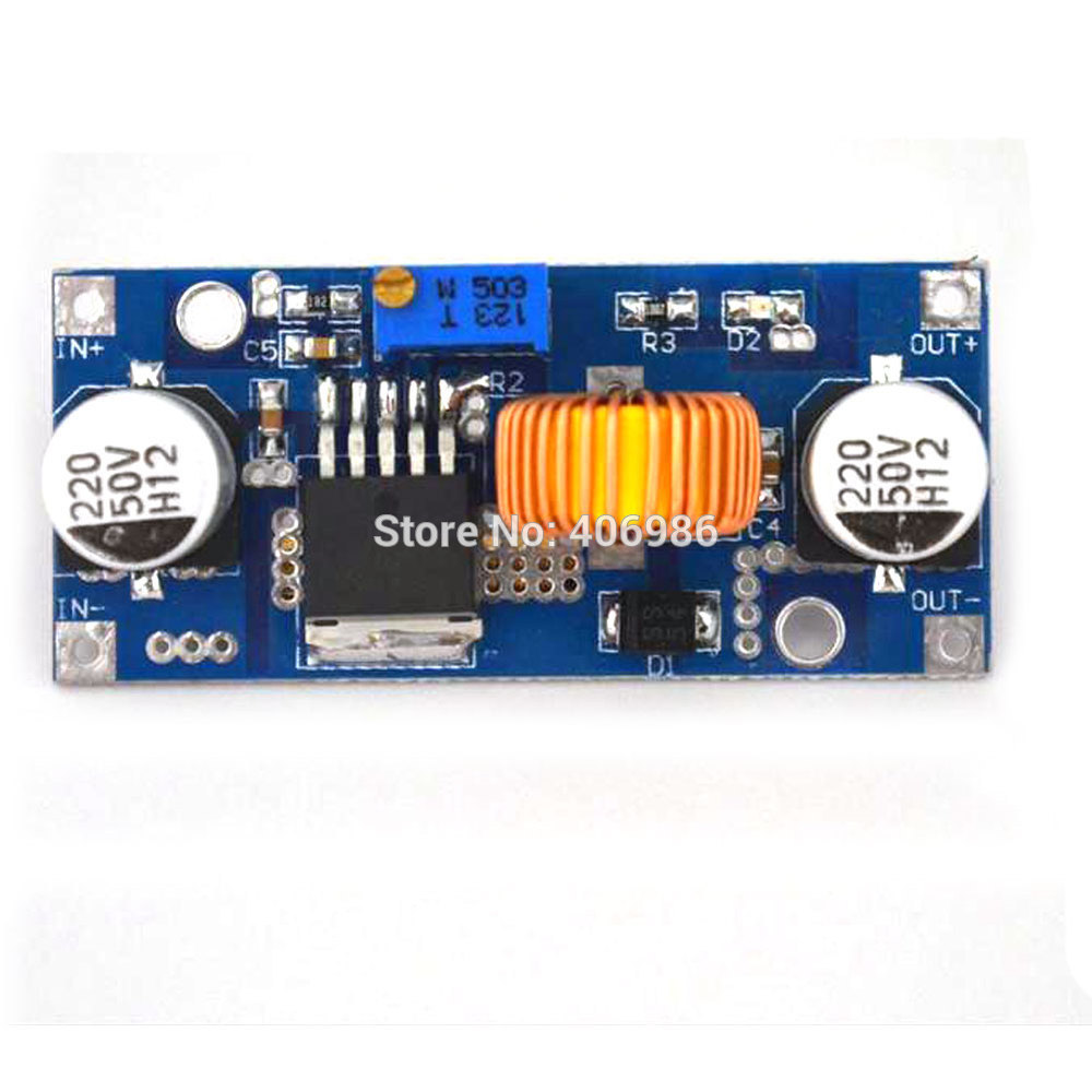 5A DC-DC Adjustable Step-down Module Power Supply Modules Input 4~38V Integrated Circuits