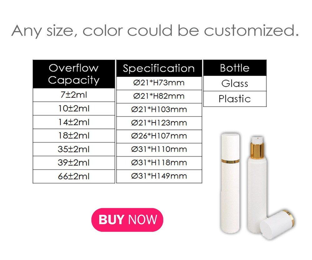 Spring Products Luxury Design White Golden Tube Clear Cap Acrylic ...