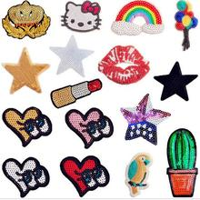 Embroidered Appliques DIY patch Banana pineapple ice cream star Fabric Sticker For Clothes Badge patch