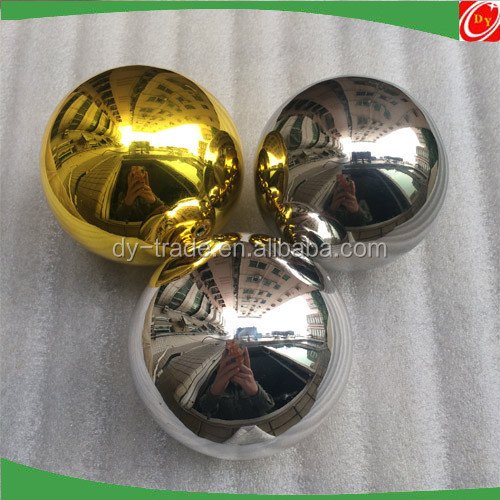 Hanging stainless decorative gold and silver hollow balls