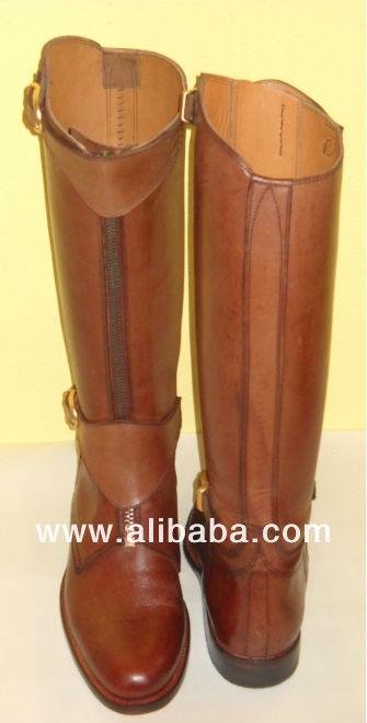Eh prima polo caballo botas de montar calzado de piel for Botas montar a caballo