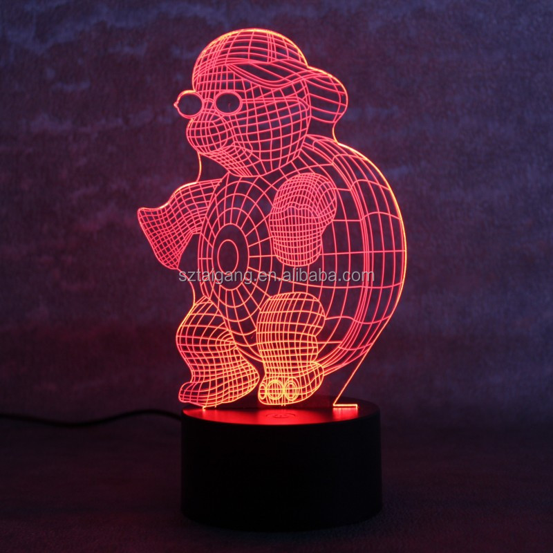 7 Colors Changing turtle Baby Lamp 3D Night Light