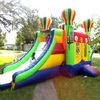 inflatable combo castle with ballnoon,inflatable house slide A3043