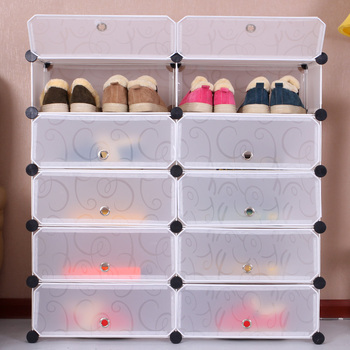 Attractive Bedroom Furniture Modern Portable Clear Shoe Organizer With Door