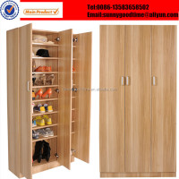 Wardrobe stytle shoe racks with horizontal door opening