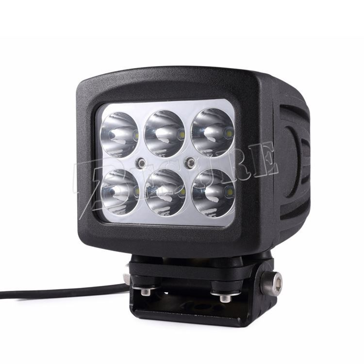 "Auto Light Parts High Power 12v 24v 60W LED Spot Flood Work Light 4WD Truck 5.3"" LED Head Lamp"