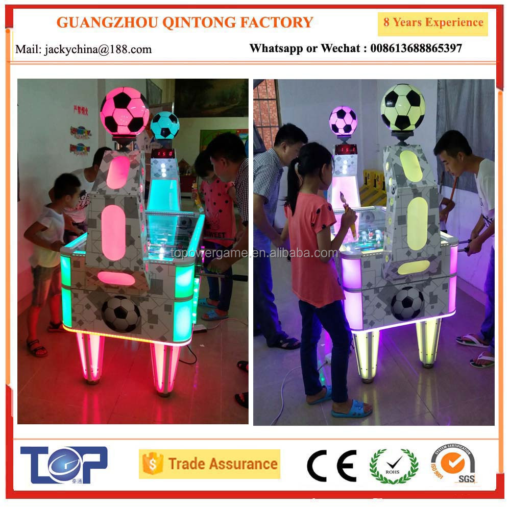2 player colourfull soccer table game for amusement center