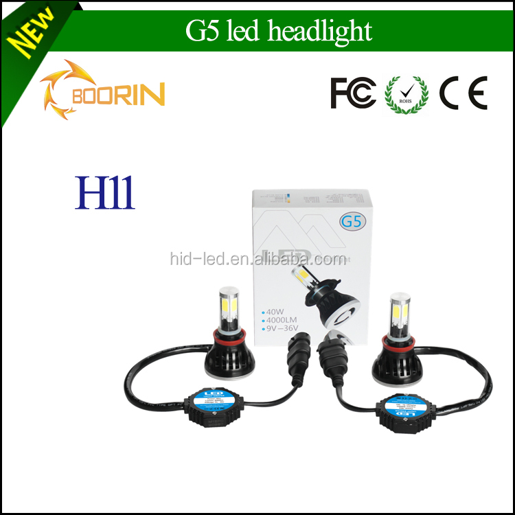 new arrival new generation auto accessories led bulb h4,40W 4000lm 6000k highpower h1 h3 h4 h7 h11 auto car led headlight bulb