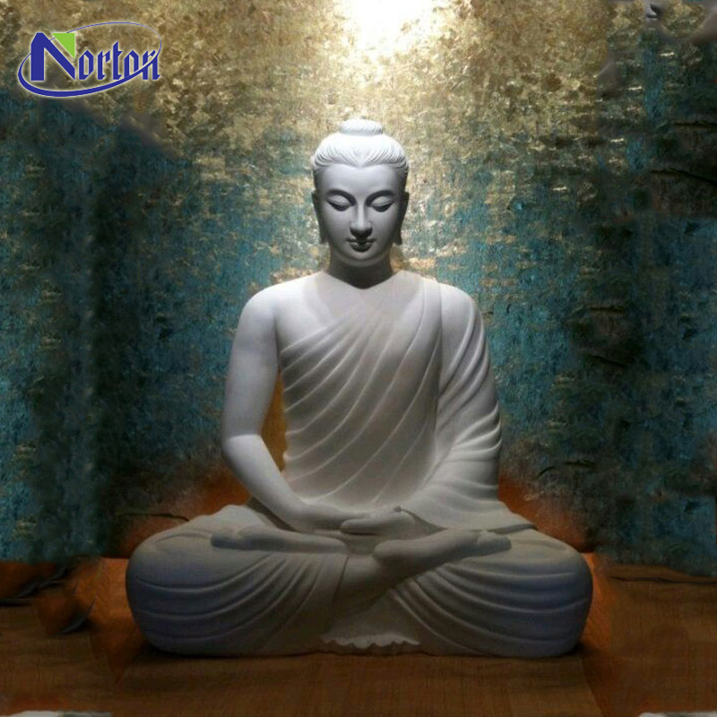 Wholesale outdoor carving life size white marble buddha statues for sale NT-MSZ002