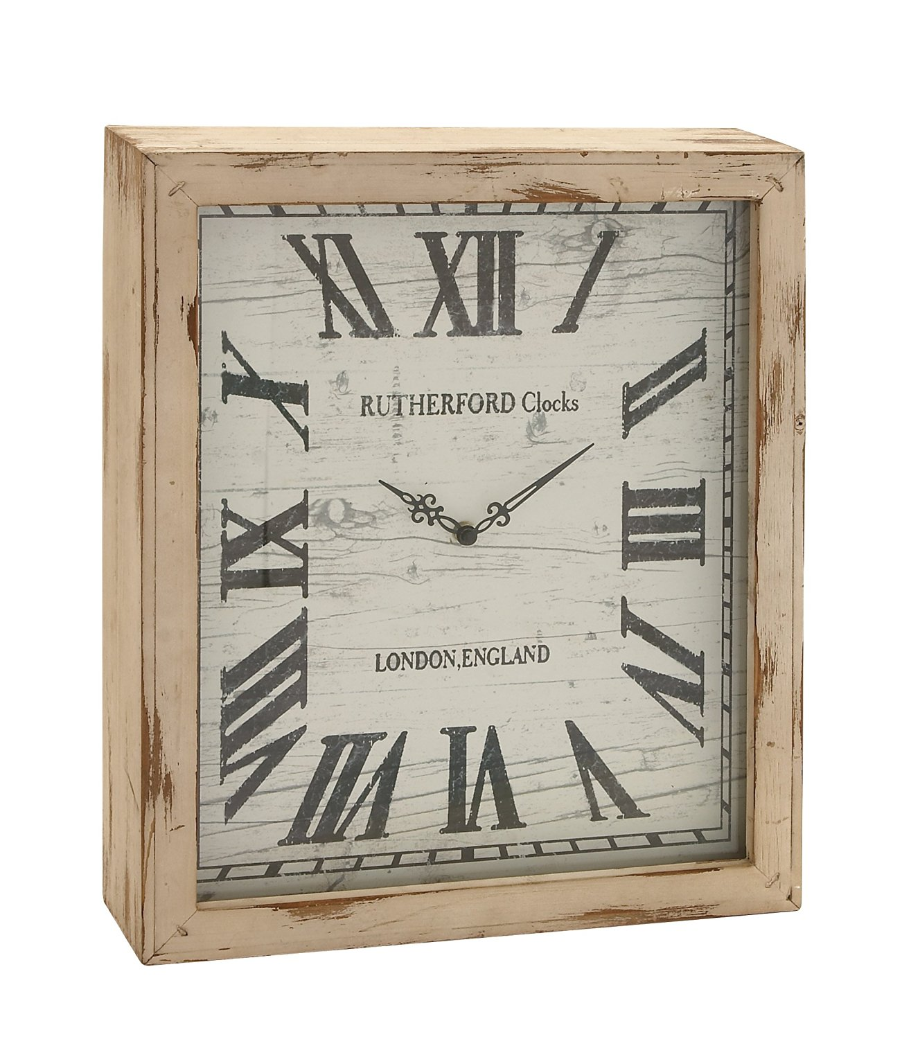 Get Quotations Benzara Timelessly Rustic Wood Wall Clock