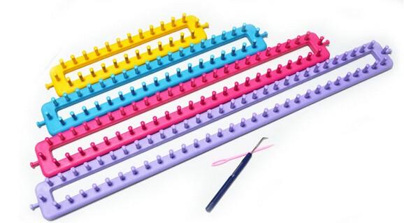 Home Diy Plastic Loom Knitting Knitting Loom Set Wool Knitting Tools