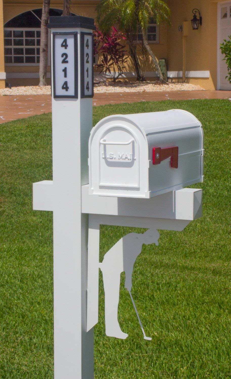 BrightLight Custom Aluminum Golfer Mailbox Bracket