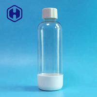 Carbonating reusable lasts 2 year 1000ml Guangzhou manufacturer Clear 1 liter Soda Bpa free Custom Drinking Plastic water bottle