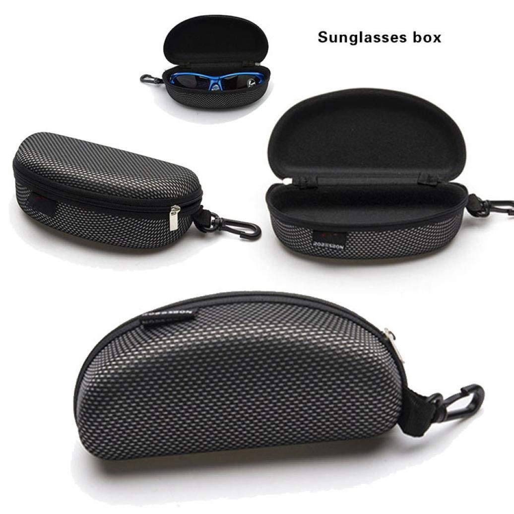 Liping Portable Zipper Eye Shell Hard Case Protector Box for Spectacle Sunglasses Reading Glasses Eyewear (Black)