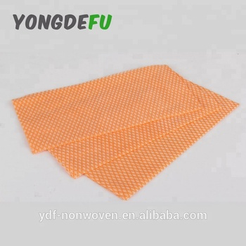 Orange Diamond Pattern Lint Free Cotton Mesh Spunlace Non Woven Cleaning  Wipes Roll Dish Cloth Disposable Kitchen Towel - Buy Cleaning Wipes,Dish ...
